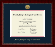 Saint Mary's College of California Diploma Frame - Gold Engraved Medallion Diploma Frame in Sutton