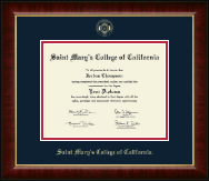 Saint Mary's College of California Diploma Frame - Gold Embossed Diploma Frame in Murano