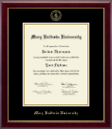 Mary Baldwin University Diploma Frame - Gold Embossed Diploma Frame in Gallery
