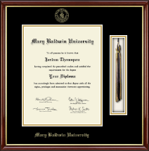 Mary Baldwin University Diploma Frame - Tassel Edition Diploma Frame in Southport Gold
