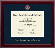 Saint Mary's College of California Diploma Frame - Masterpiece Medallion Diploma Frame in Gallery