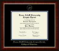 Texas A&M University Corpus Christi Diploma Frame - Gold Embossed Diploma Frame in Murano