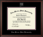 New Mexico State University in Las Cruces Diploma Frame - Silver Embossed Diploma Frame in Studio