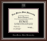 New Mexico State University in Las Cruces Diploma Frame - Silver Embossed Diploma Frame in Devonshire