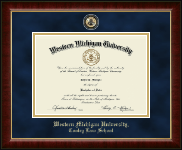 Western Michigan University Diploma Frame - Masterpiece Medallion Diploma Frame in Murano