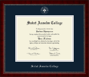 Saint Anselm College Diploma Frame - Silver Embossed Diploma Frame in Sutton