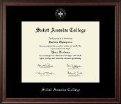 Saint Anselm College Diploma Frame - Silver Embossed Diploma Frame in Studio
