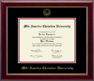 Mid-America Christian University Diploma Frame - Gold Embossed Diploma Frame in Gallery