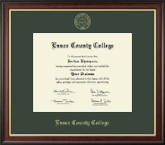 Essex County College Diploma Frame - Gold Embossed Diploma Frame in Studio Gold