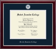 Saint Anselm College Diploma Frame - Masterpiece Medallion Diploma Frame in Gallery Silver