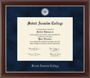 Saint Anselm College Diploma Frame - Regal Edition Diploma Frame in Chateau