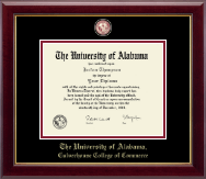 The University of Alabama Tuscaloosa Diploma Frame - Masterpiece Medallion Diploma Frame in Gallery