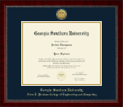 Georgia Southern University Diploma Frame - Gold Engraved Medallion Diploma Frame in Sutton