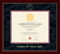 School of Visual Arts Diploma Frame - Gold Embossed Diploma Frame in Sutton