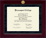 Brazosport College Diploma Frame - Millennium Gold Engraved Diploma Frame in Cordova