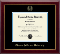 Thomas Jefferson University Diploma Frame - Gold Embossed Diploma Frame in Gallery