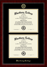 Wartburg College Diploma Frame - Double Diploma Frame in Sutton