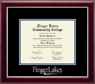Finger Lakes Community College Diploma Frame - Silver Embossed Diploma Frame in Gallery Silver