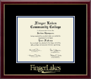 Finger Lakes Community College Diploma Frame - Gold Embossed Diploma Frame in Galleria