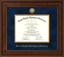 Grand Rapids Theological Seminary Diploma Frame - Presidential Gold Engraved Diploma Frame in Madison