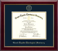 Grand Rapids Theological Seminary Diploma Frame - Gold Embossed Diploma Frame in Gallery