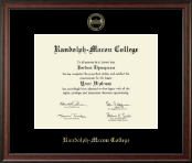 Randolph-Macon College Diploma Frame - Gold Embossed Diploma Frame in Studio