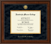 Randolph-Macon College Diploma Frame - Presidential Gold Engraved Diploma Frame in Madison