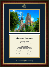 Marquette University Diploma Frame - Campus Scene Diploma Frame in Murano
