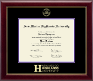 New Mexico Highlands University Diploma Frame - Gold Embossed Diploma Frame in Gallery
