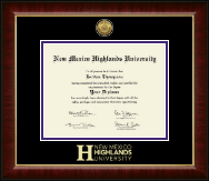 New Mexico Highlands University Diploma Frame - Gold Engraved Medallion Diploma Frame in Murano