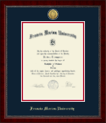 Francis Marion University Diploma Frame - Gold Engraved Medallion Diploma Frame in Sutton