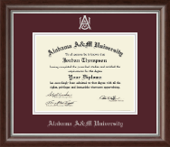 Alabama A&M University Diploma Frame - Silver Embossed Diploma Frame in Devonshire