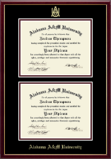 Alabama A&M University Diploma Frame - Double Diploma Frame in Galleria