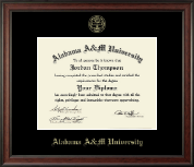 Alabama A&M University Diploma Frame - Gold Embossed Diploma Frame in Studio