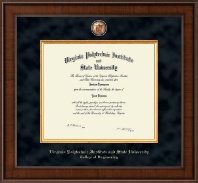 Virginia Tech Diploma Frame - Presidential Masterpiece Diploma Frame in Madison