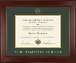 New Hampton School in New Hampshire Certificate Frame - Gold Embossed Certificate Frame in Sierra