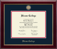 Hiram College Diploma Frame - Masterpiece Medallion Diploma Frame in Gallery