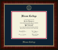 Hiram College Diploma Frame - Gold Embossed Diploma Frame in Murano