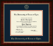 The University of Texas at Tyler Diploma Frame - Gold Embossed Diploma Frame in Murano