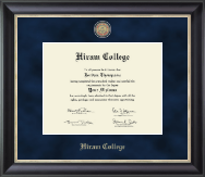 Hiram College Diploma Frame - Regal Edition Diploma Frame in Noir