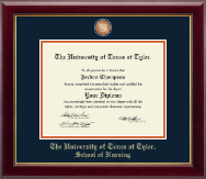 The University of Texas at Tyler Diploma Frame - Masterpiece Medallion Diploma Frame in Gallery