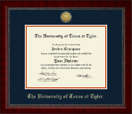 The University of Texas at Tyler Diploma Frame - Gold Engraved Medallion Diploma Frame in Sutton