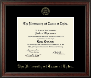 The University of Texas at Tyler Diploma Frame - Gold Embossed Diploma Frame in Studio