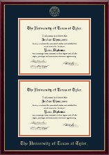 The University of Texas at Tyler Diploma Frame - Double Diploma Frame in Galleria