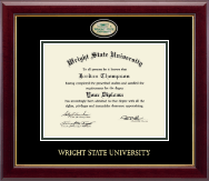 Wright State University Diploma Frame - Masterpiece Medallion Diploma Frame in Gallery