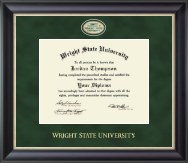 Wright State University Diploma Frame - Regal Edition Diploma Frame in Noir