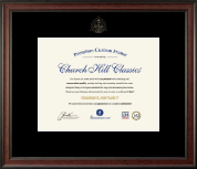 Embossed Dental Certificate Frame