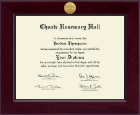 Choate Rosemary Hall Diploma Frame - Century Gold Engraved Diploma Frame in Cordova