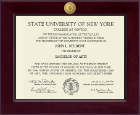 State University of New York at Oswego Diploma Frame - Century 23K Medallion Diploma Frame in Cordova