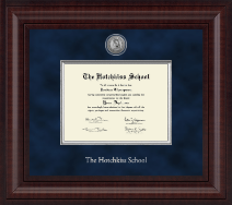 The Hotchkiss School Diploma Frame - Presidential Silver Engraved Diploma Frame in Premier